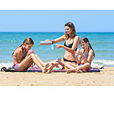 Strand, Sommer, Familie, Picknick