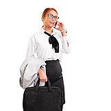 Business Woman, On The Move, On The Phone