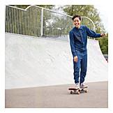 Balance, Lebensfreude, Skaten, Skaterin