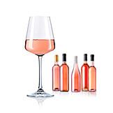 Wine glass, Rose wine
