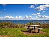 Küste, Picknick, Sitzgelegenheit