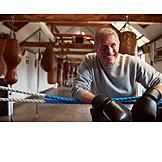 Lächeln, Aktiver Senior, Boxer