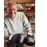 Portrait, Smiling, Active Seniors, Boxer