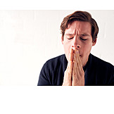 Man, Hands, Folded, Hope, Praying