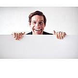 Man, Laughing, Advertising, Embassy