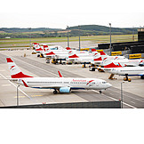 Airplane, Airport, Austrian Airlines