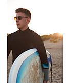 Beach, Surfer