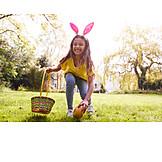 Girl, Easter, Easter Egg, Finding
