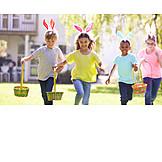 Garten, Ostern, Osterei, Suchen, Kindheit