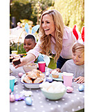Mother, Easter Celebration, Muffin, Childhood