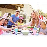 Party, Home, Easter Celebration, Friends, Dining Table