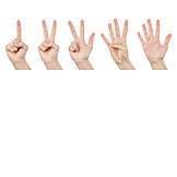 Finger, Hand, Counting, 5