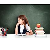 Pensive, School, Learning