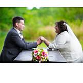 Love, Bridal Bouquet, Wedding Couple