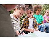 Bildung, Orientierung, Karte, Waldschule