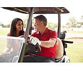 Golf, Golfer, Golf Club, Golf Cart