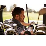 Golf, Golfer, Golf Cart