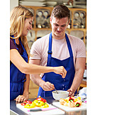 Gesunde Ernährung, Salat, Zubereiten, Kochkurs