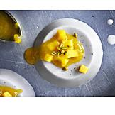 Dessert, Dessert, Compote, Panna Cotta, Vegan