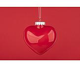 Heart, Vehicle Trailer, Christmas Tree Decorations