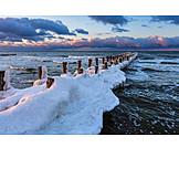 Winter, Baltic Sea, Groyne