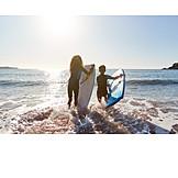 Surfing, Childhood, Siblings