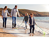 Sea, Beach Walking, Family Outing