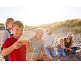 Beach, Broiling, Family, Sandwich, Barbecue
