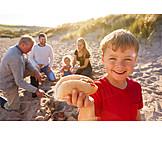 Beach, Family, Sandwich, Barbecue