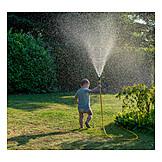Toddler, Cooling, Garden Hose