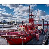 Gastronomie, Hamburger Hafen, Feuerschiff