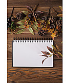 Autumn, Leaves, Notebooks