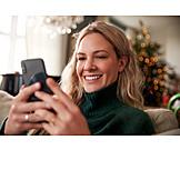 Christmas, Christmas greetings, Smart phone