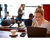 Mobile Communication, Cafe, Laptop, Wlan