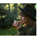 Woman, Tea, Enjoy