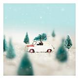 Transportation, Car, Christmas tree