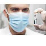 Research, Scientist, Vaccine, Ampoule