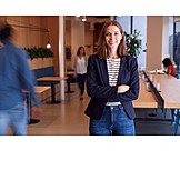 Geschäftsfrau, Büro, Coworking