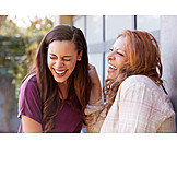 Mother, Laughing, Daughter