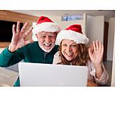 Home, Christmas, Online, Waving