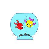 Fish, Aquarium, Cartoon