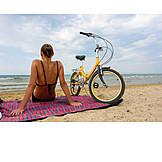 Woman, Sea, Bathing, Excursion