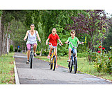 Bicycle, Family, Excursion