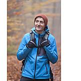 Man, Autumn, Hiking