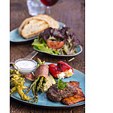 Antipasto, Bbq, Barbeque Plate