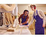 Craft, Apprentice, Carpenter, Circular Saw, Carpentry
