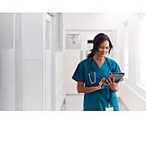 Hospital, Doctor, Tablet-pc
