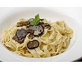 Pasta Dish, Tagliatelle, Truffle Mushroom