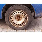 Car, Rusty, Wheel
