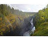 Ravine, Waterfall, Hällingsafallet